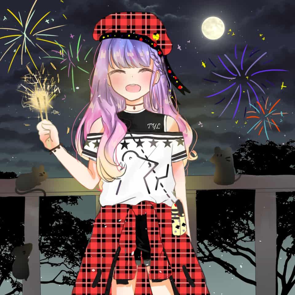 Fireworks Illust of Alice_in_nyanland Jan.2020Contest