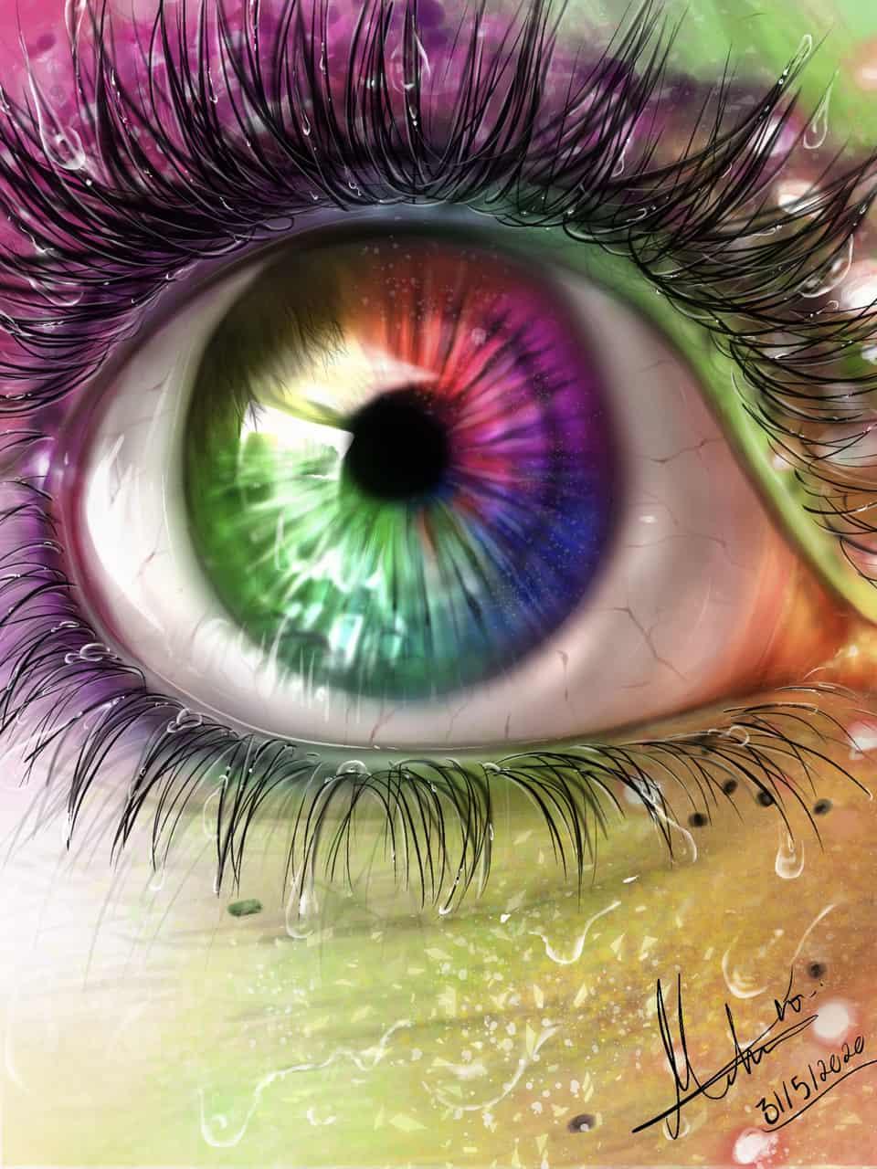 Colorful eye Illust of Maha April.2020Contest:Color Colorful color RainbowEye eyes