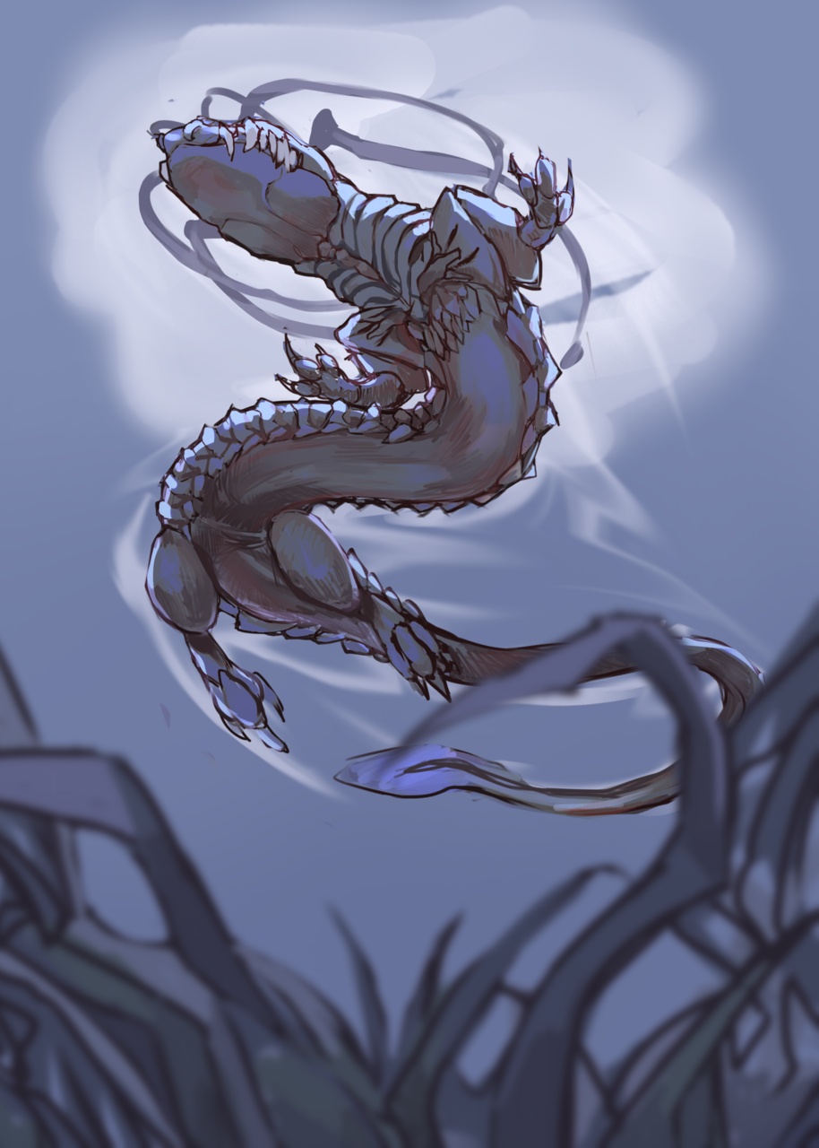Lake creature Illust of Ghost March2021_Creature oc monster