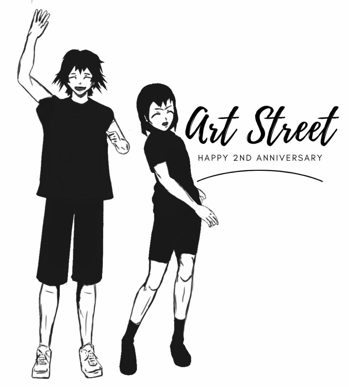 Anniversary Wish to Art Street Illust of Sinchan96 sad sketch illustrations manga anniversary