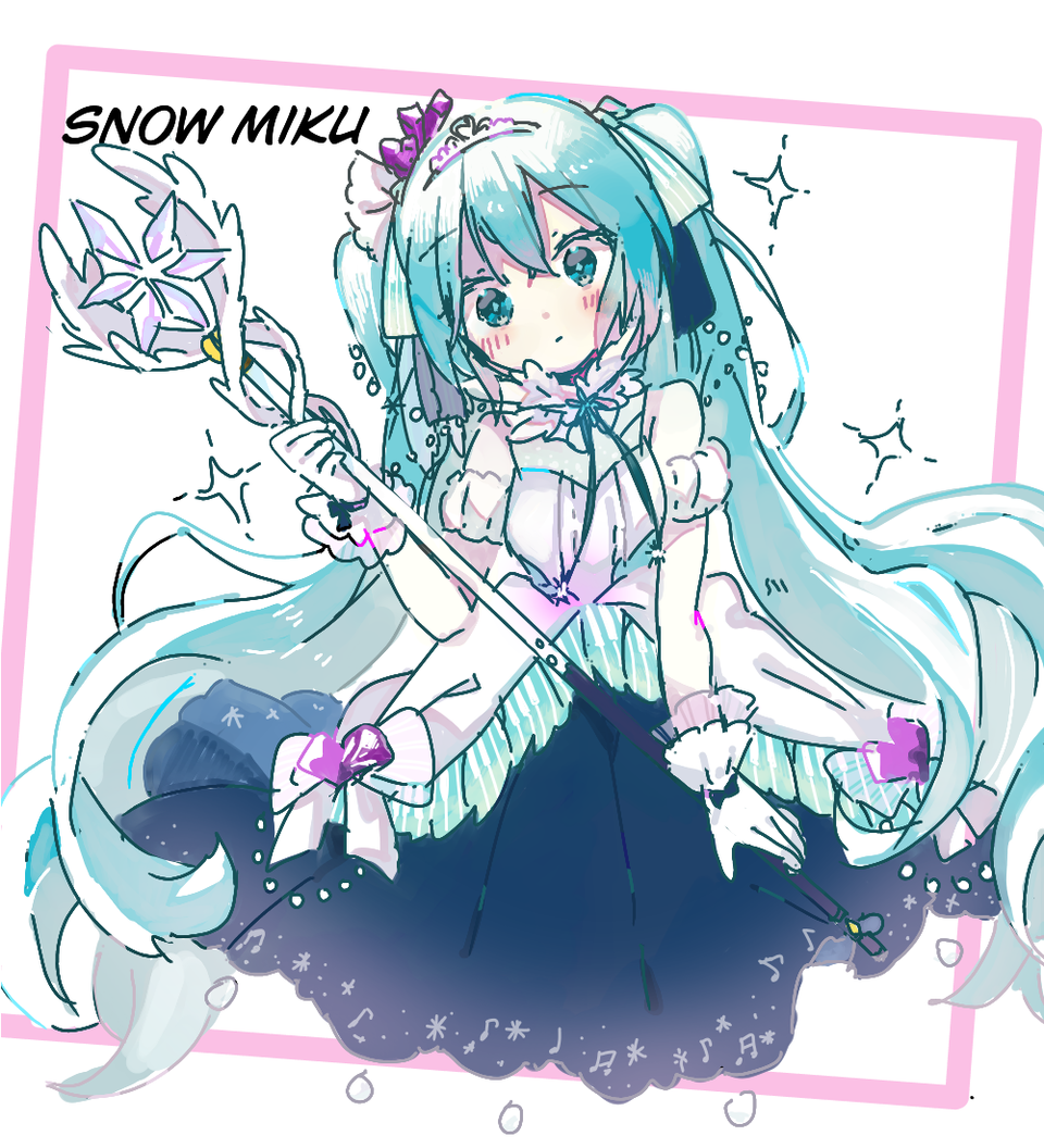 snow miku Illust of Niwa medibangpaint hatsunemiku kawaii VOCALOID 雪ミク