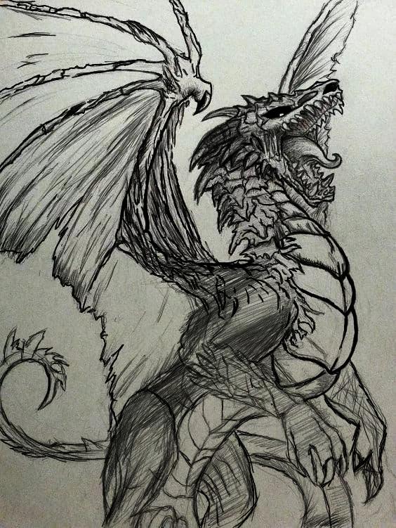 Drag Illust of omegazero552 medibangpaint Wyvern Fantasía, Dragon,
