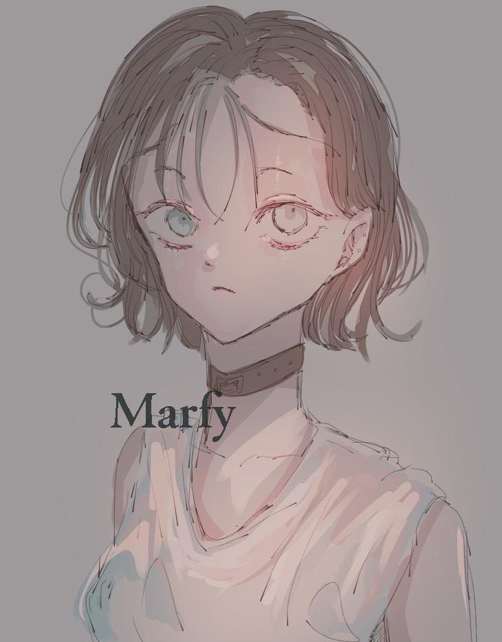 ツルピカおでこ Illust of Marfy kawaii girl シースルーバング portrait