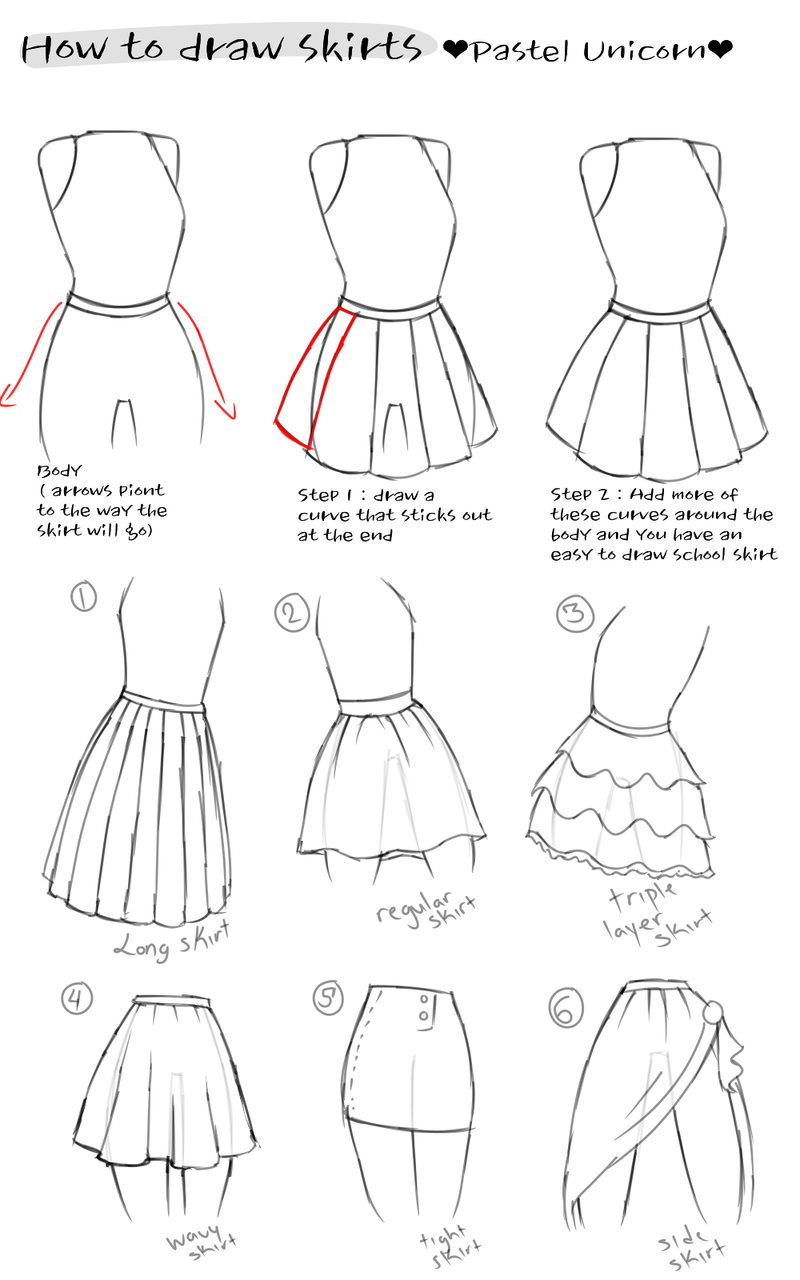 How to draw clothes #2