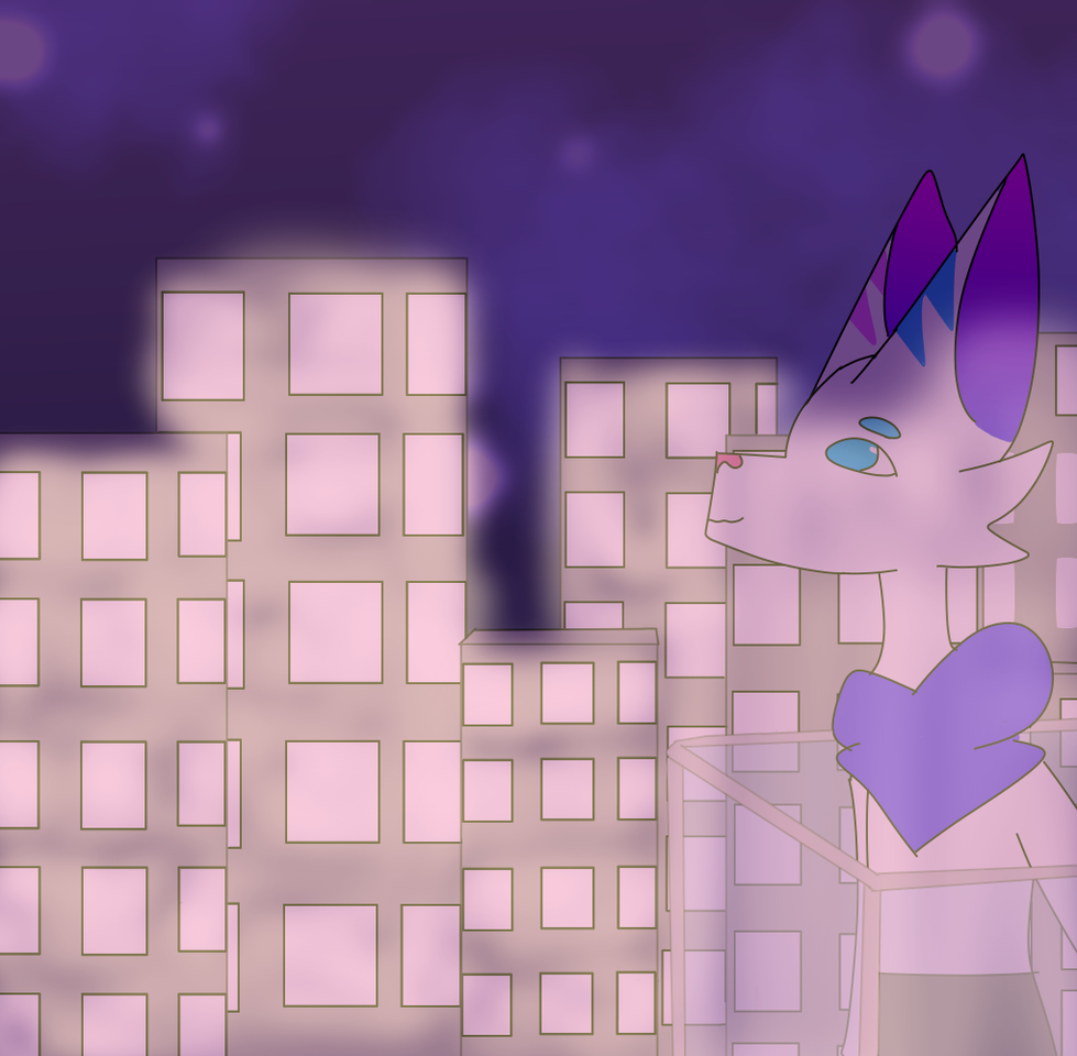 """contest entry for ●CRYING CAT● Illust of ˜""""*°• ♣🄳🅁. 🄿🄴🄿🅂🄸 ♣ •°*""""˜ medibangpaint uwu city??? contest galaxy??"""