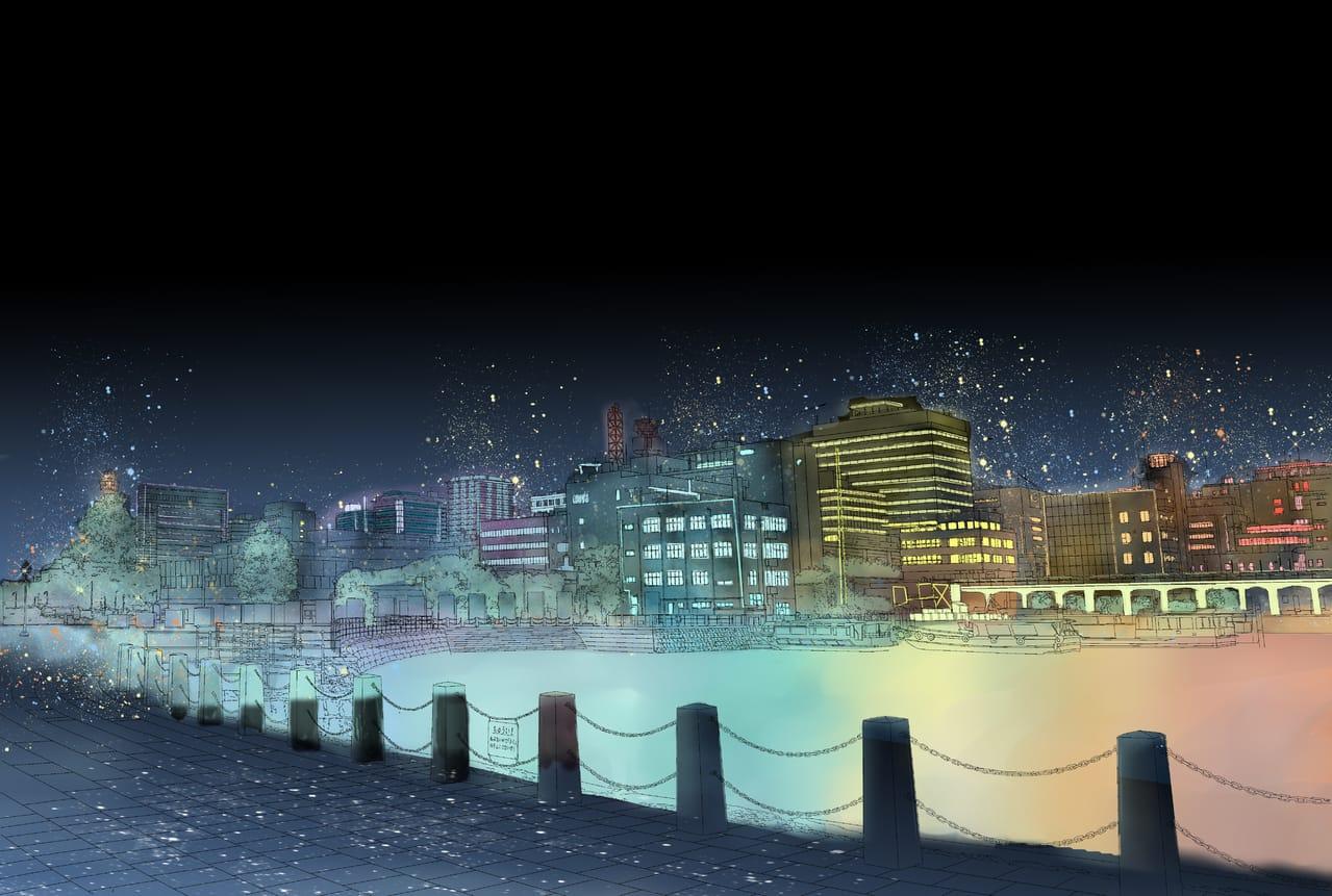 Star night Illust of translucentshea BackgroundImageContest_Coloring_Division Background_Image_Contest practice starry_sky scenery background
