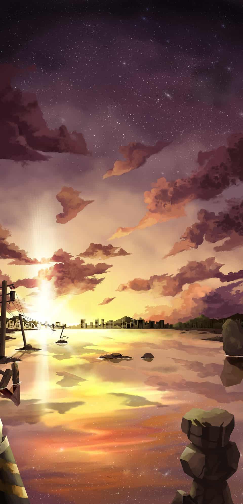 夕陽 Illust of 一撇 夕陽 風景圖
