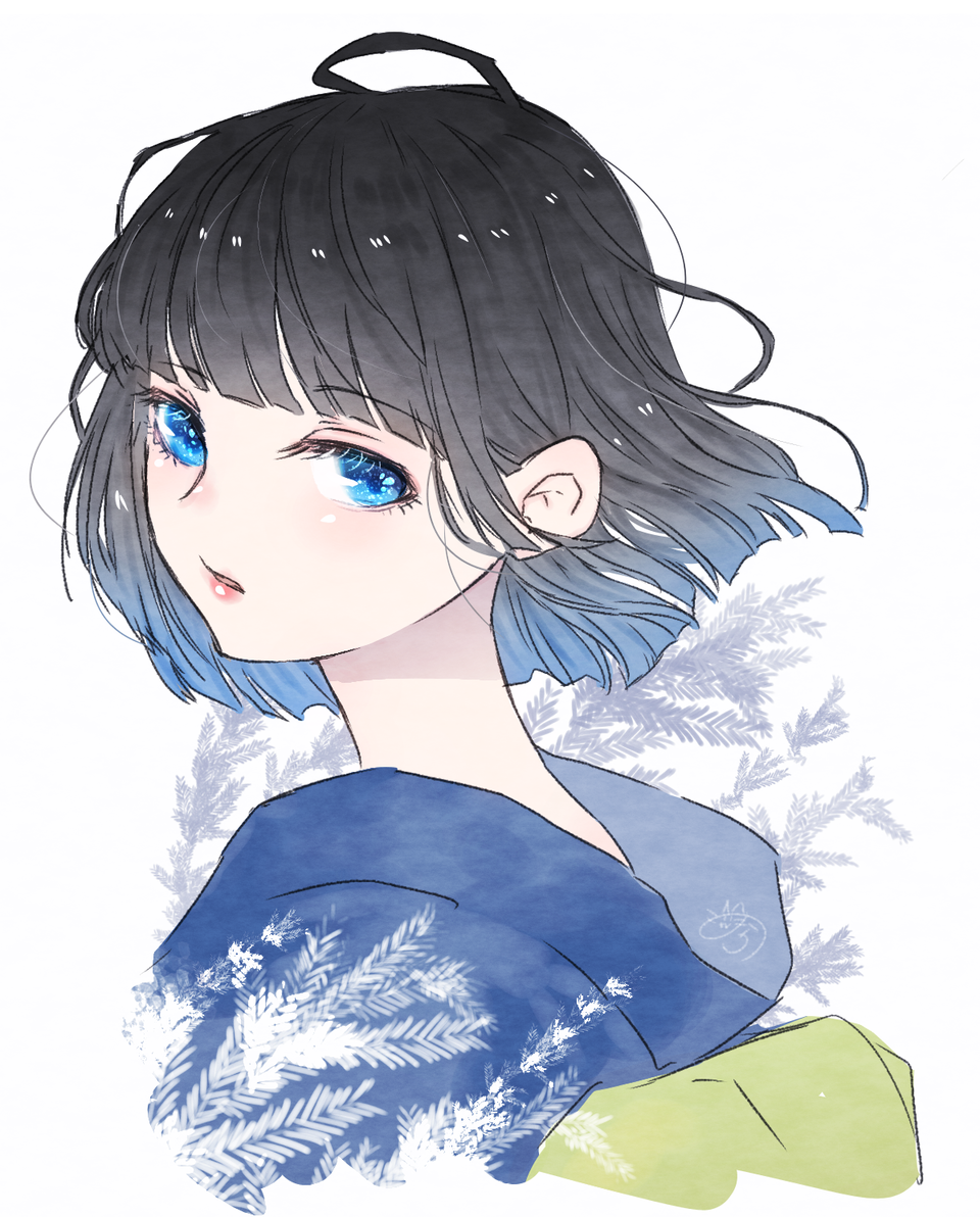 夏の風 Illust of nora blue kimono おかっぱ original girl medibangpaint