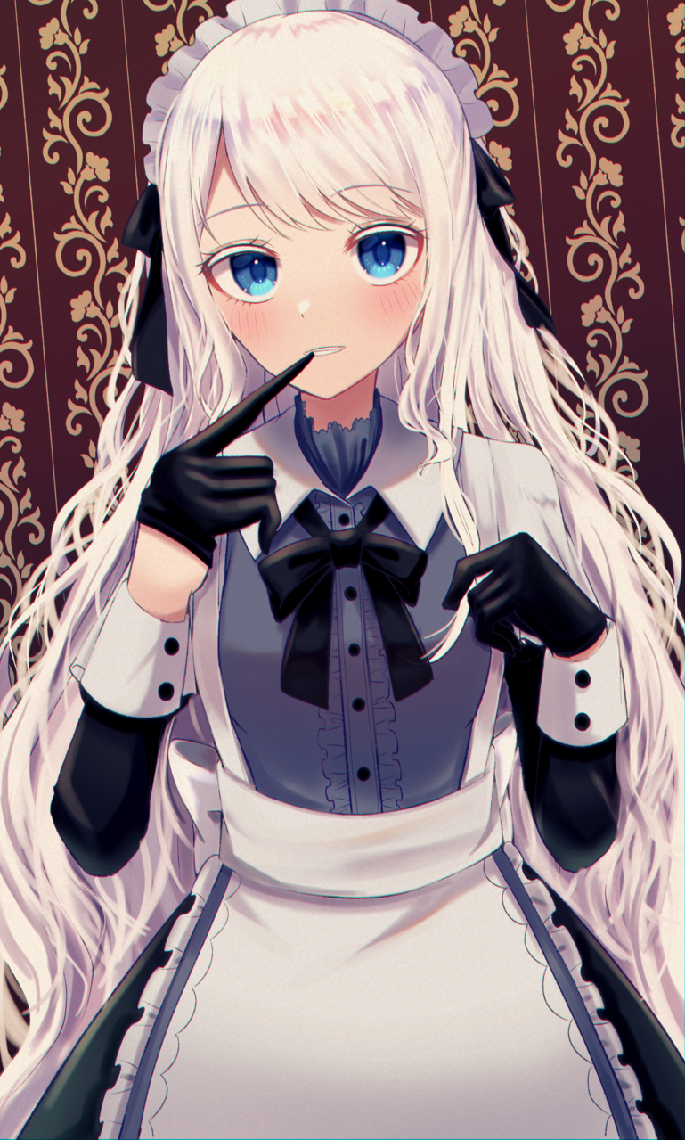 無気力メイドさんPart2 Illust of じゅにねう original maid white_hair girl