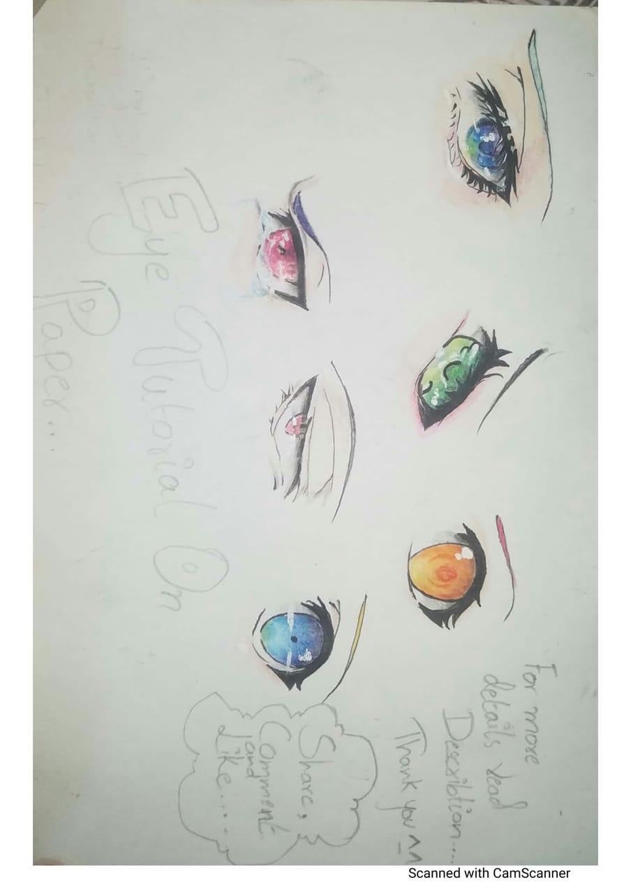 Eye tutorial analog (on paper ) Illust of Ninestar619 AnalogDrawing tutorial アナログ eyes original animeeyes