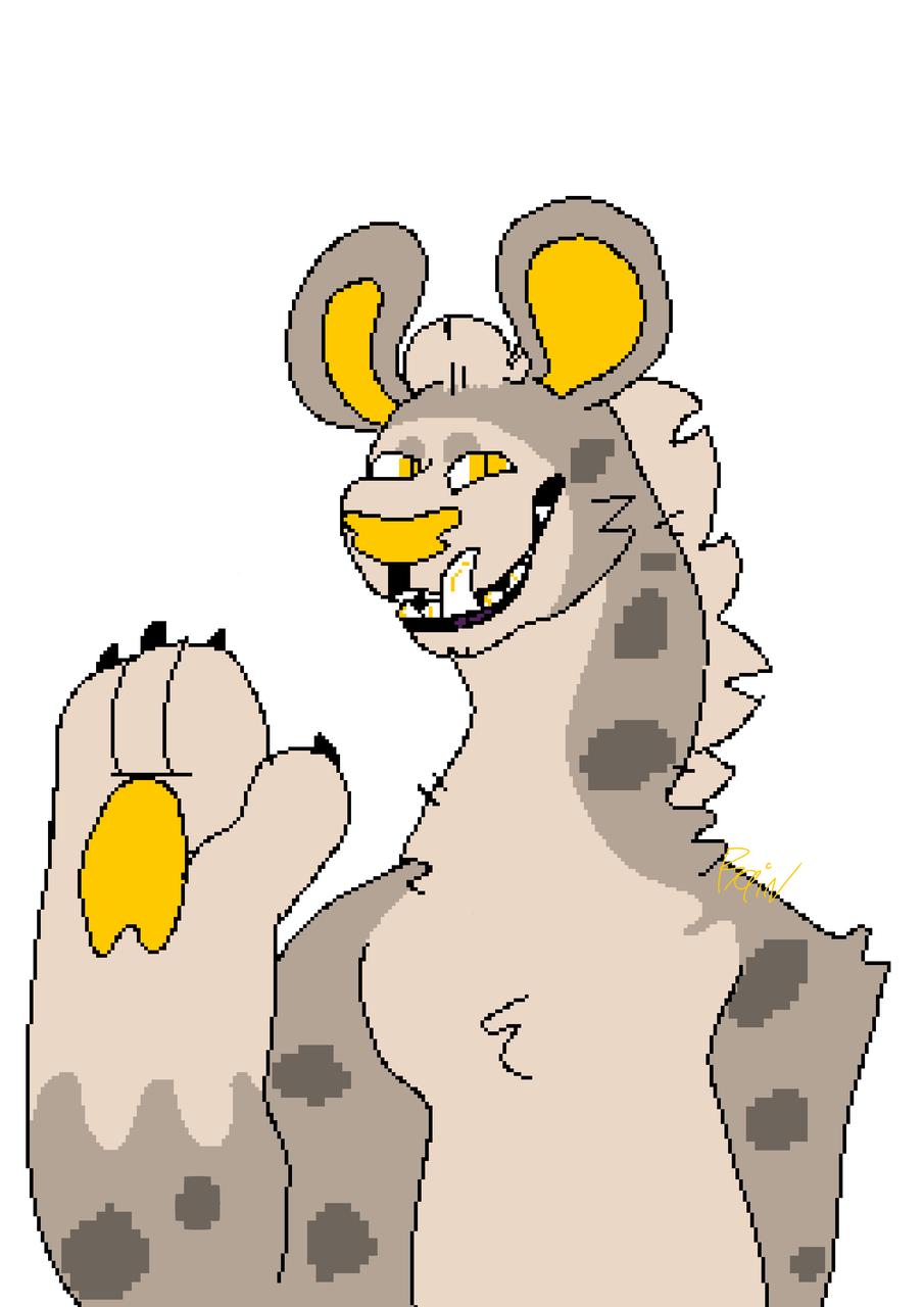 Pixels (Fixed) Illust of Big Yeen medibangpaint pixelart Pixels fursona Hyena