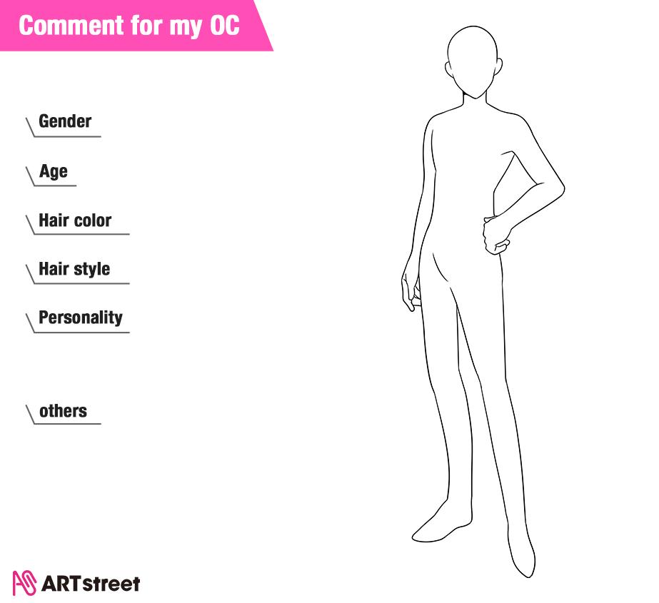 I Draw OC with your comment Illust of ryuuzhi CommentForMyOC