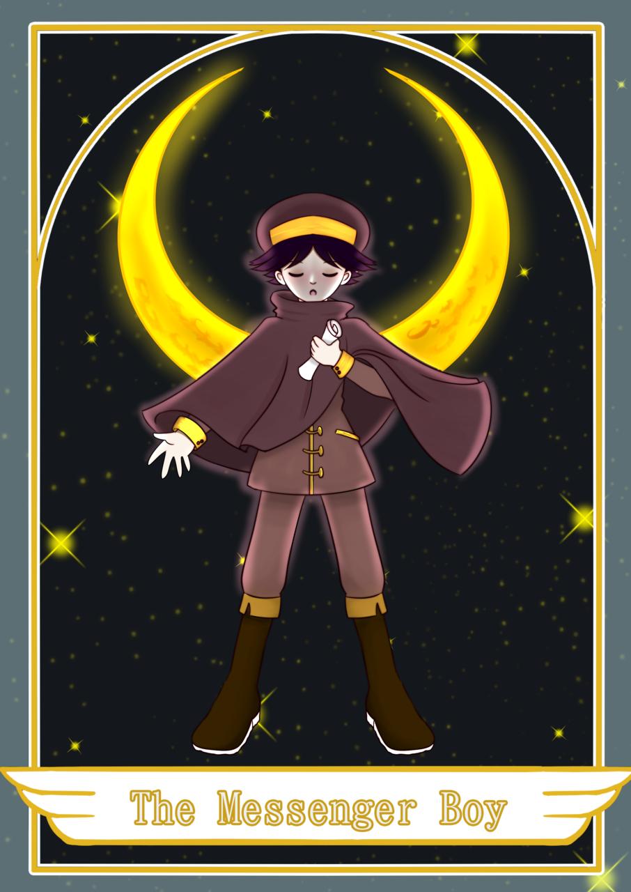 The Messenger Boy Tarot Card Illust of moonli9ht_nana 1hDrawingChallenge medibangpaint boy moon Messenger TarotCard moonli9ht_nana