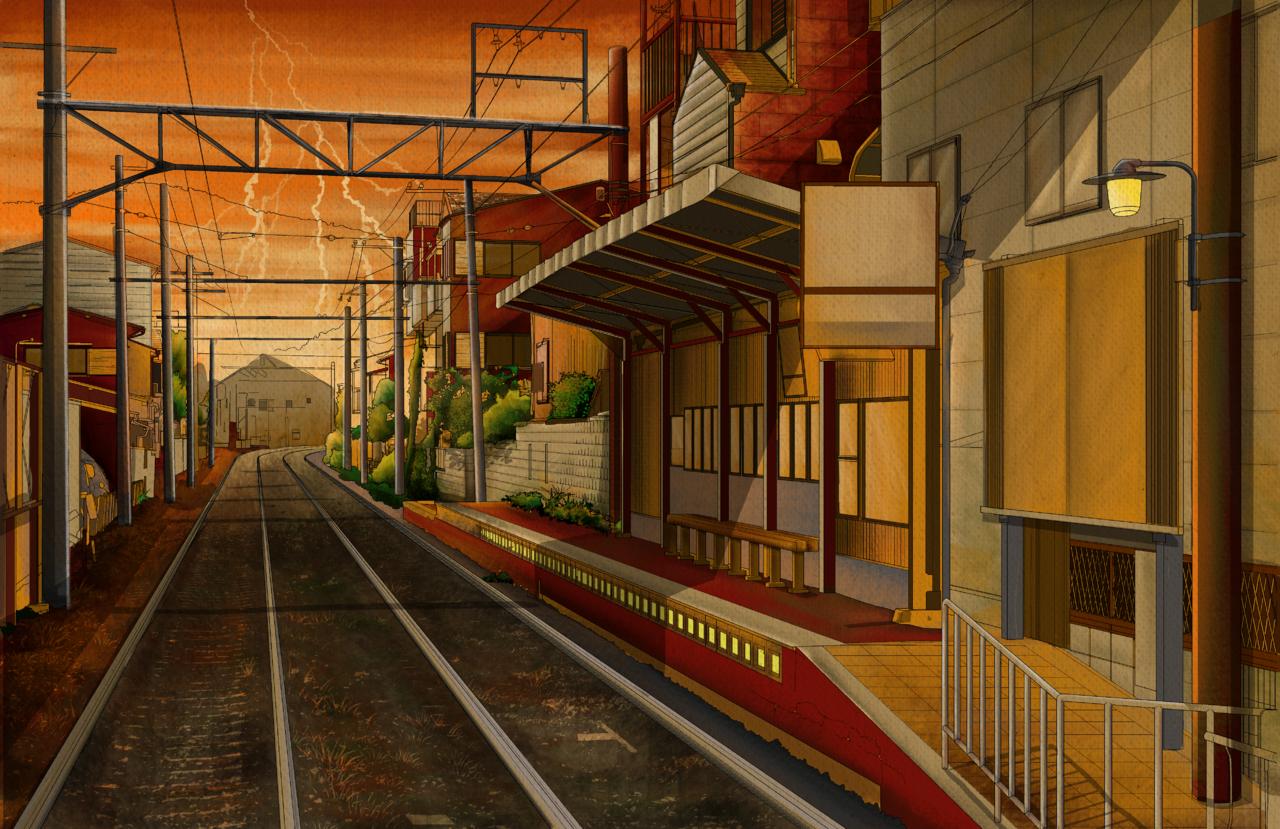 s u n s e t Illust of verens elvira Background_Image_Contest BackgroundImageContest_Coloring_Division