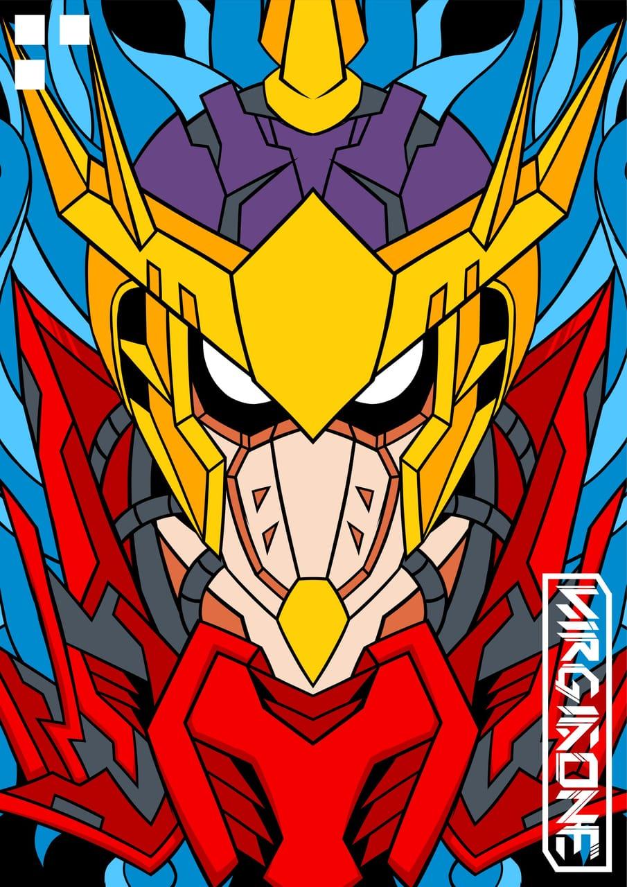 MECHA BASON Illust of virgiaone monster anime robots shaman mecha manga bason spirit ball
