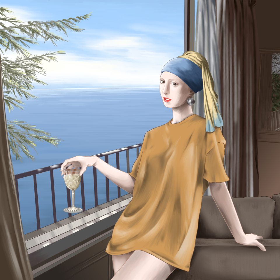 the girl with the pearl earring on sabbatical Illust of ET MasterpieceFanart