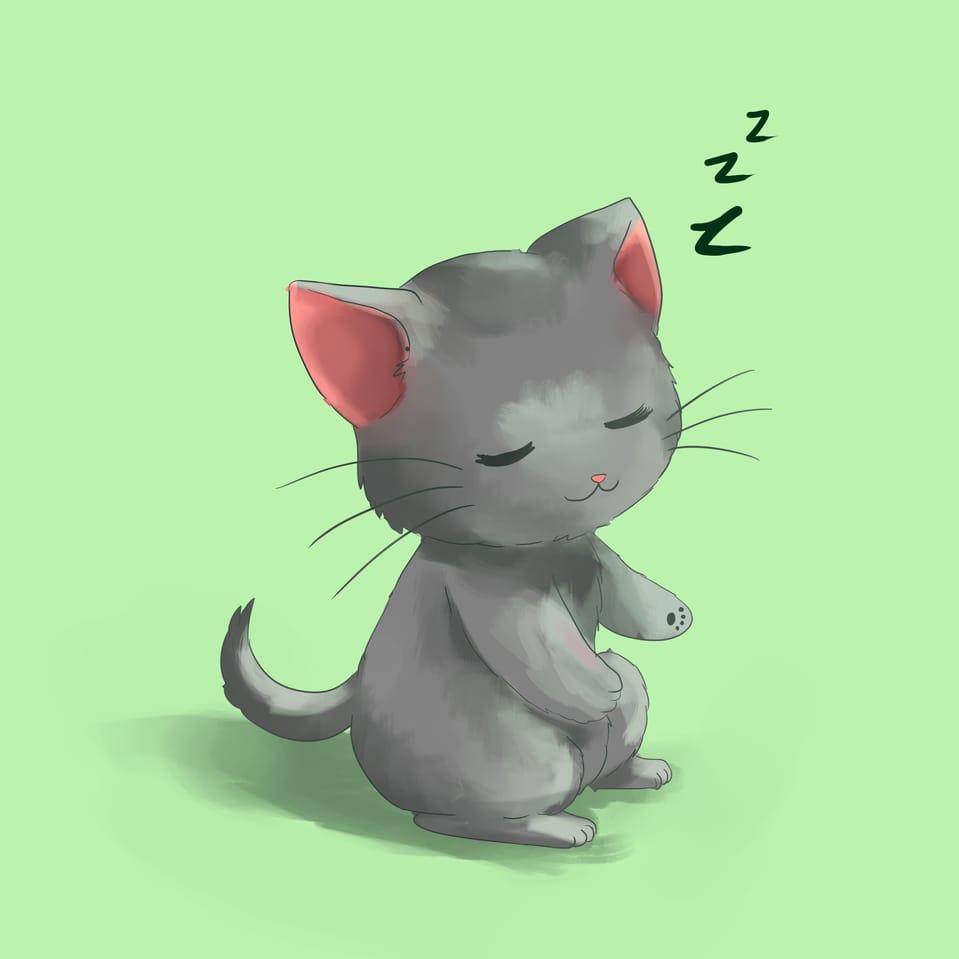 cat Illust of Kuriri Mikiu 1HoursDrawing cat 1hDrawingChallenge anime