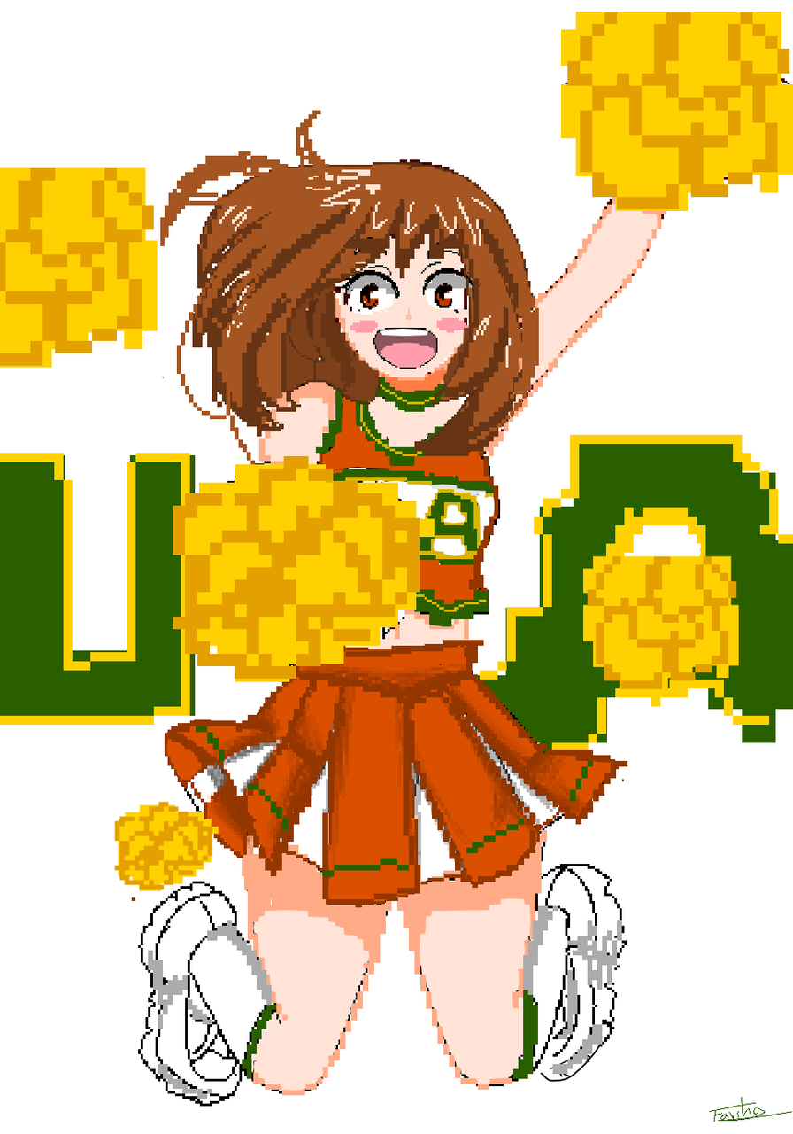 YO U MUST KNOW OCHAKO URARAKA .. cheer for people  Illust of Fari pixelart