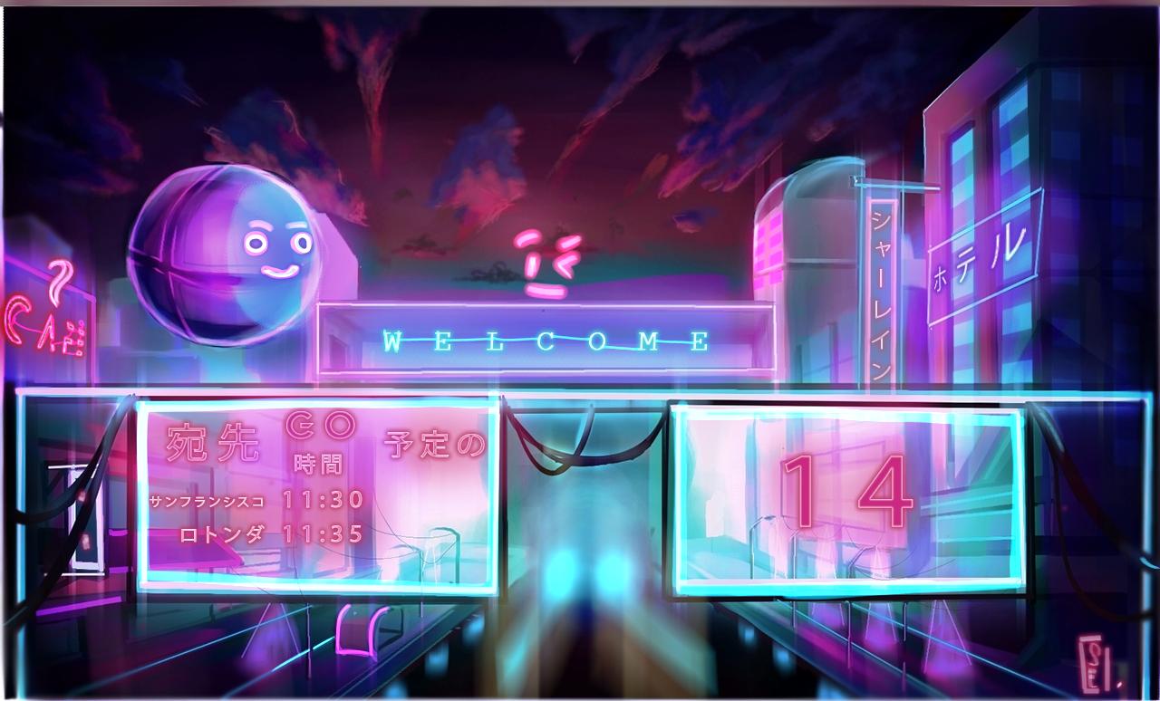 NEON SPACE CITY Illust of Sharlaine.@rts sci-fi cyberpunk medibangpaint Artwork medibang iPad_raffle City