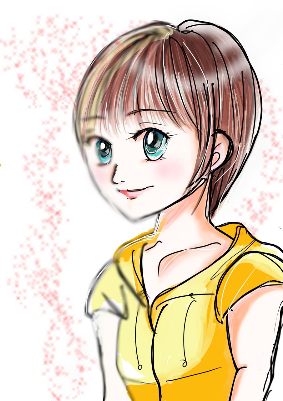 デジタル 練習その1 Illust of おかかうめ medibangpaint original girl doodle practice