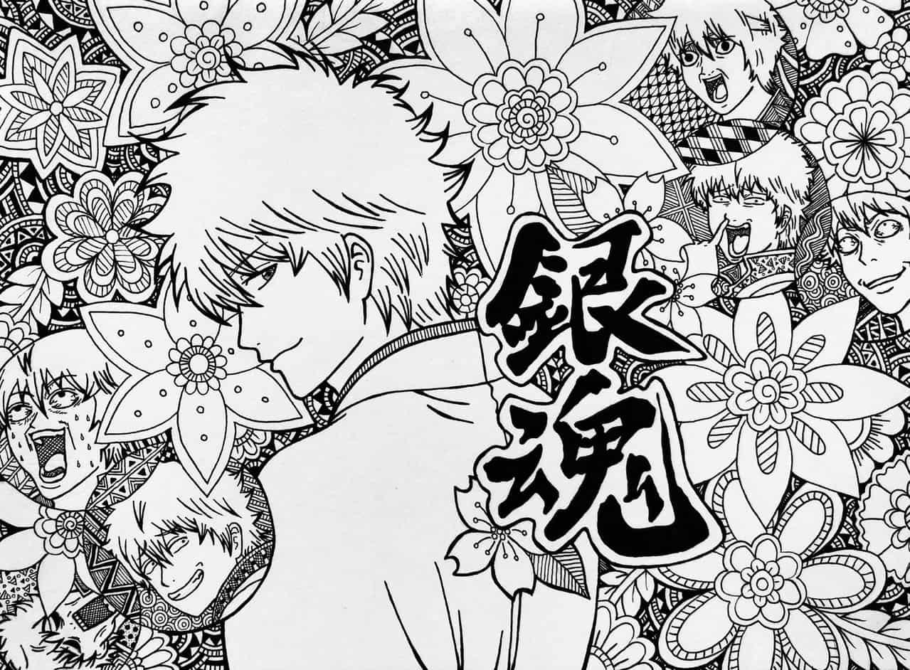 銀魂 Illust of MOKO モノクロイラスト Gintama GintokiSakata