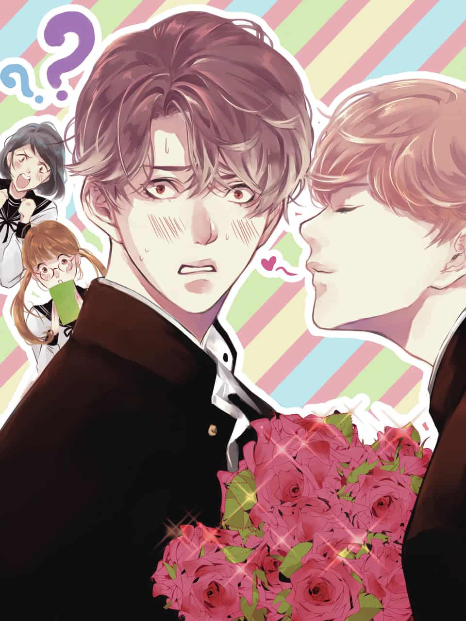The Troubled Boys and Sweet Heart Illust of Lita Orenji GOMABOOKS_Contest Boys medibangpaint Gakuran love Coverbook