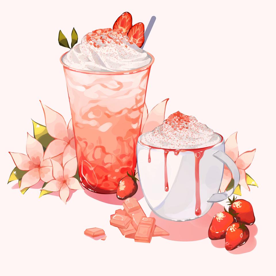 Strawberry frappe Illust of Mumechi