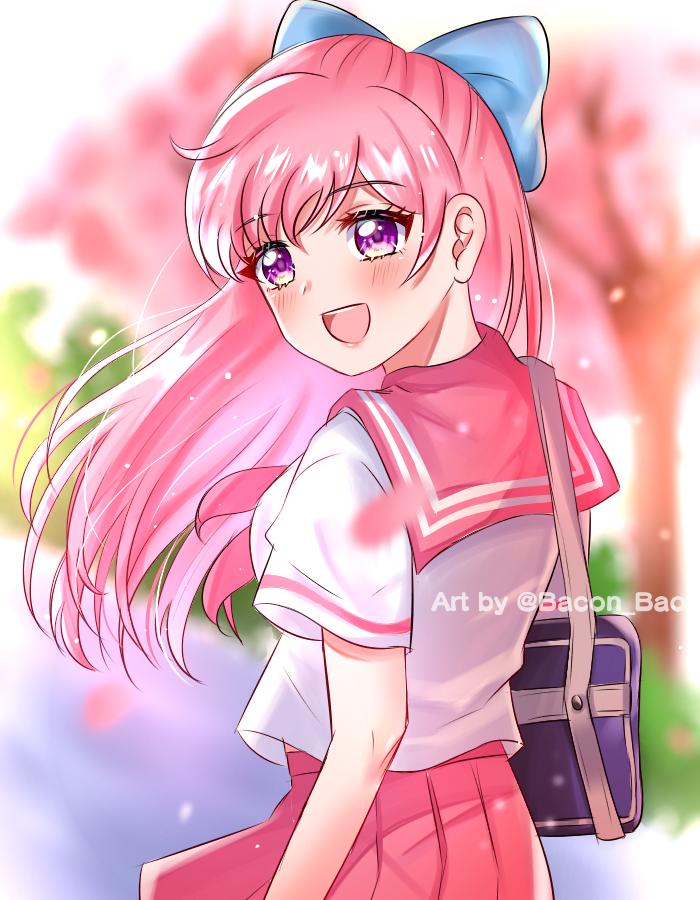 🌸🌸 Illust of Bacon_Bao anime girl kawaii digital cute pink oc medibangpaint