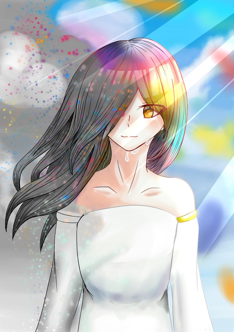 染まる世界 Illust of ホニャッキ>< April.2020Contest:Color medibangpaint girl original