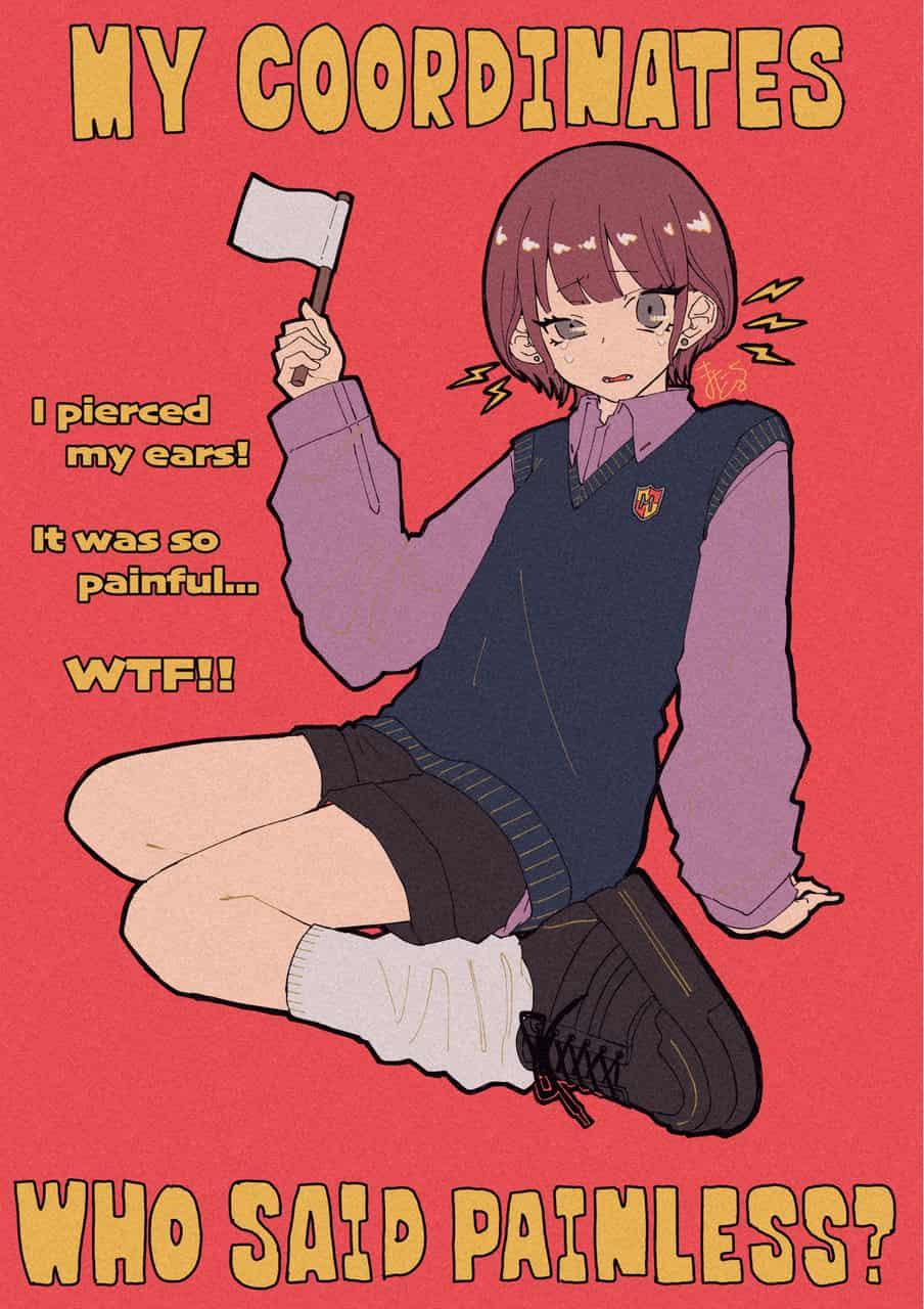 ピアス Illust of まにとむ original girl illustration