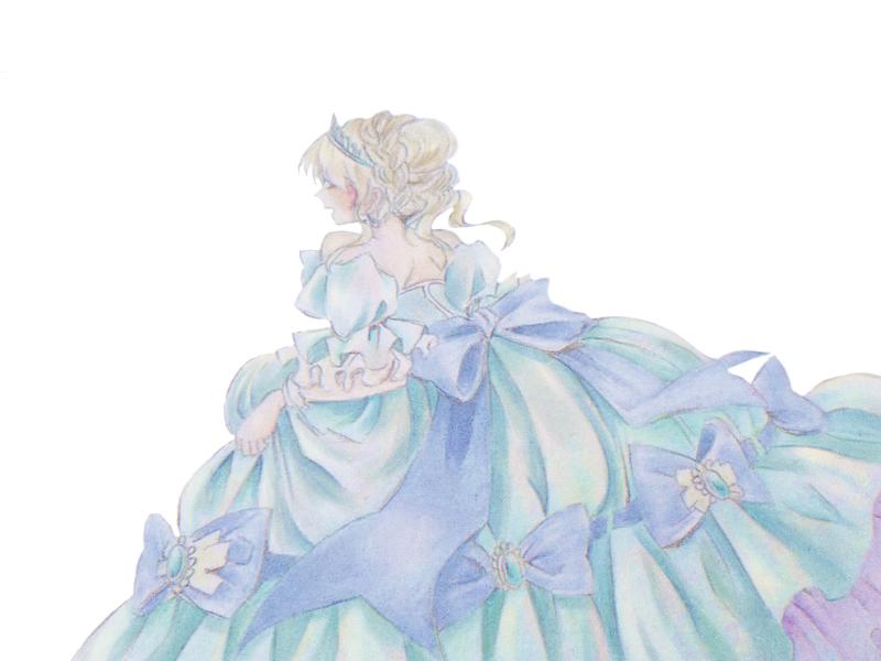 ガラスのプリンセス(過去絵) Illust of はろちゃ medibangpaint girl dress シンデレラ プリンセス