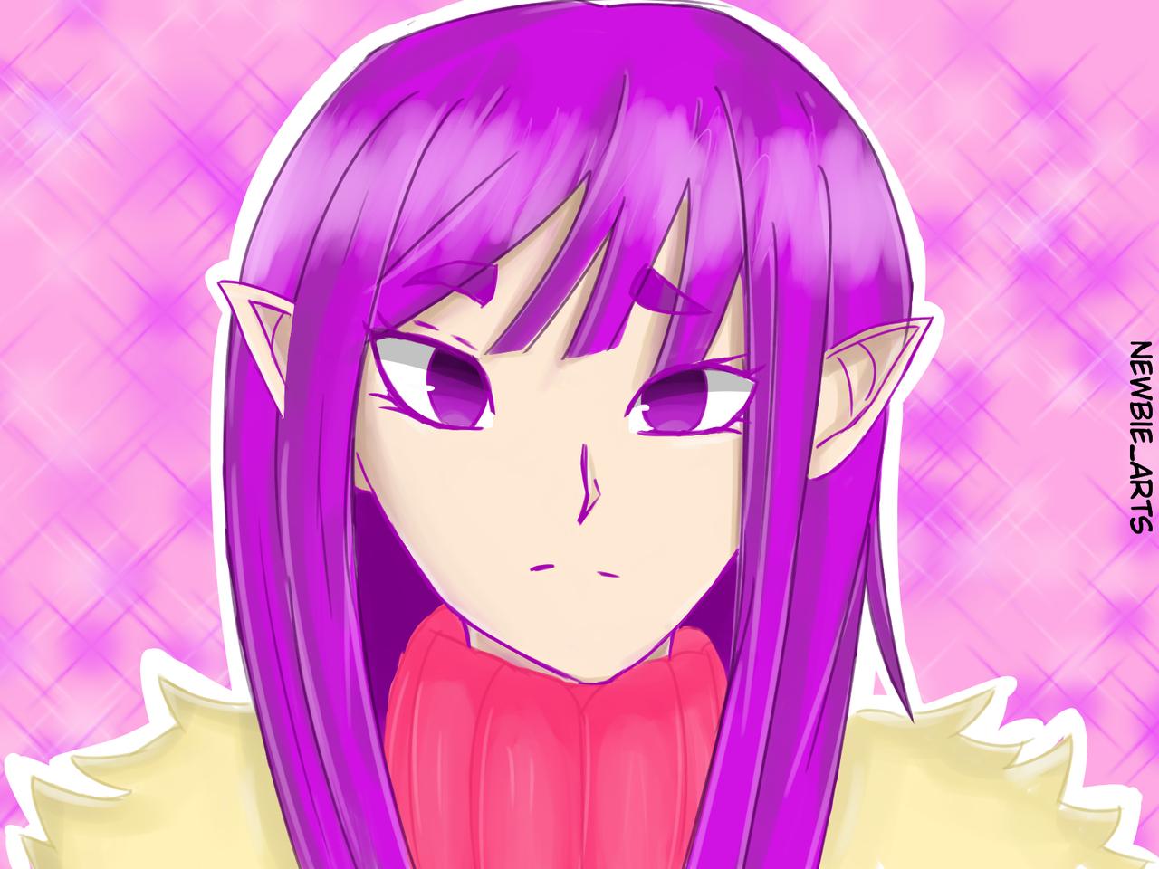 Elf Illust of Newbie anime girl elf illustration