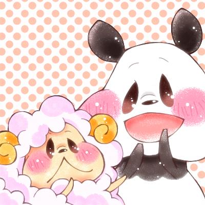 もふもふなかよし Illust of ぷちこ ひつじ panda