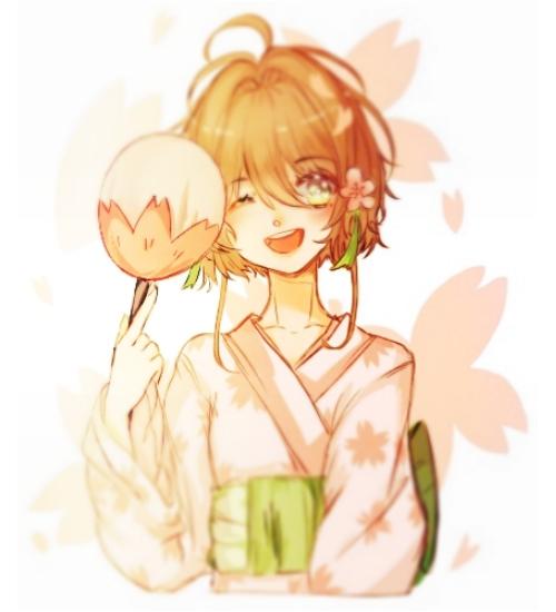 Sakura Illust of kinomoto medibangpaint sakura kimono girl