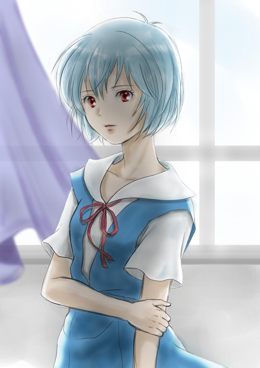 綾波レイ Illust of まろえ EVANGELION uniform girl 綾波レイ fanart メディバンペイント