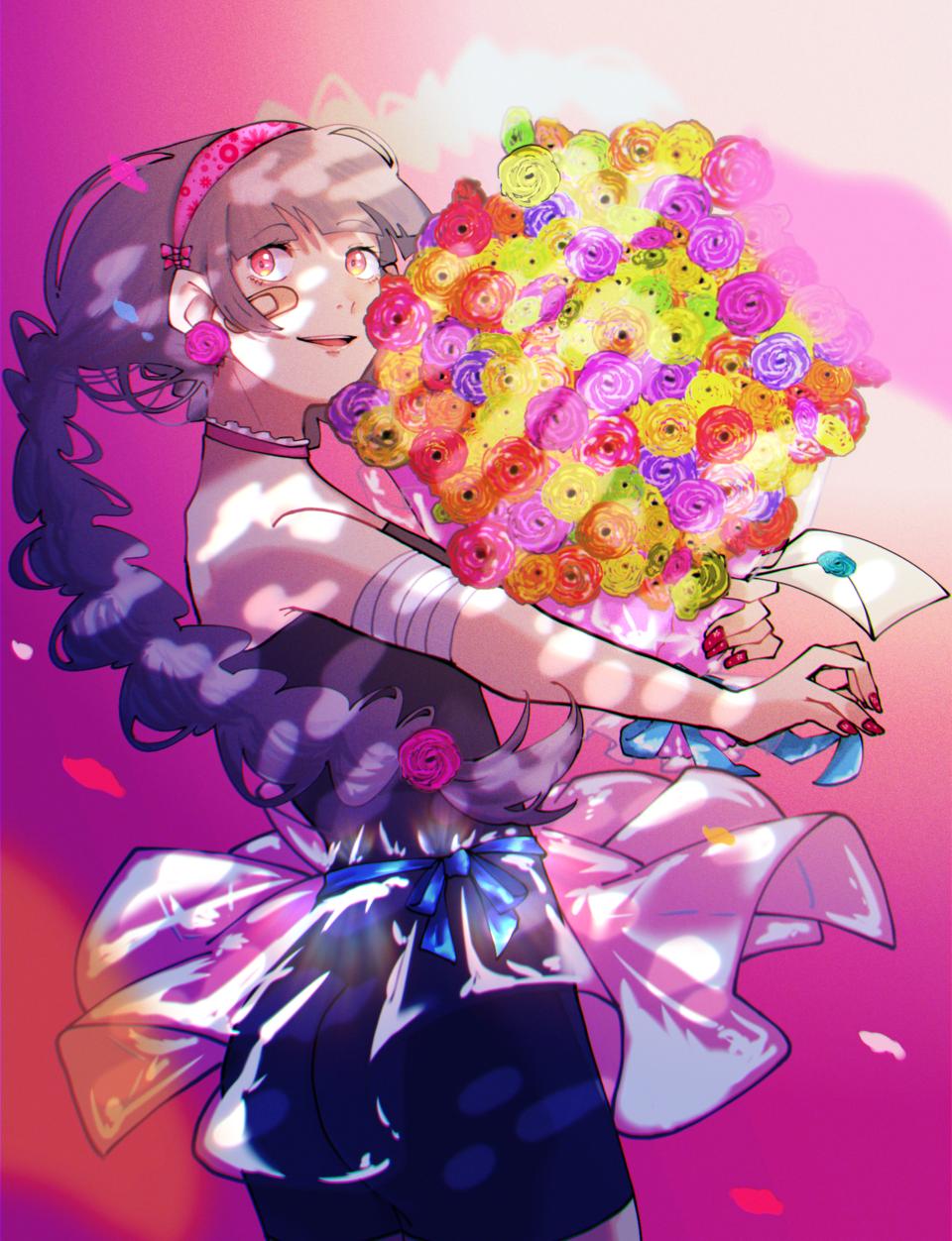 花束に想いを Illust of はねづ April2021_Flower original ラナンキュラス