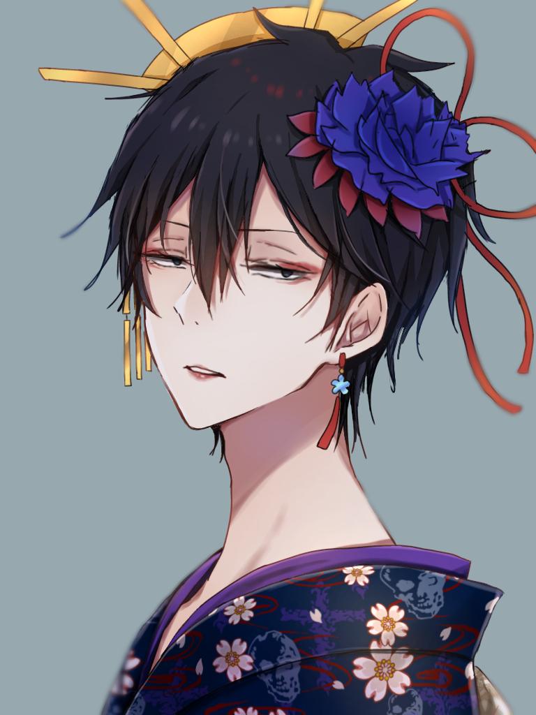 何です?の顔 Illust of ペニーパニー boy kimono original