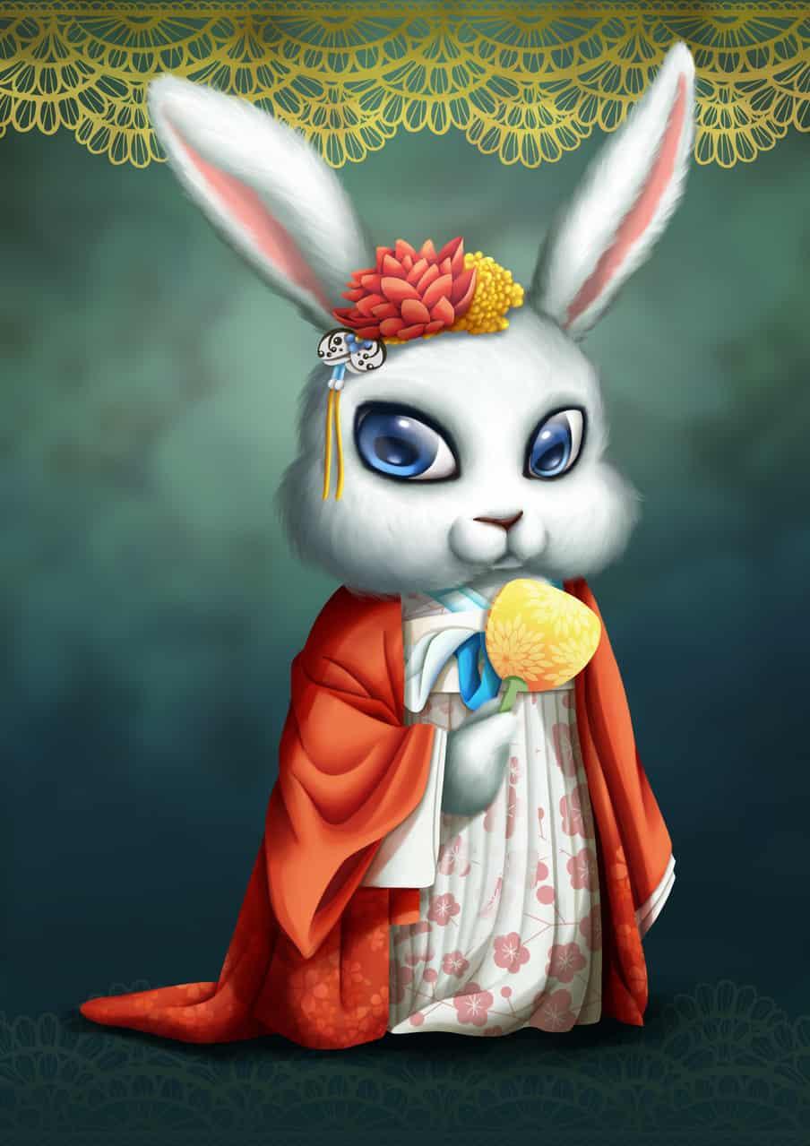 花兔 Illust of 猫雨 September2020_Contest:Furry rabbit