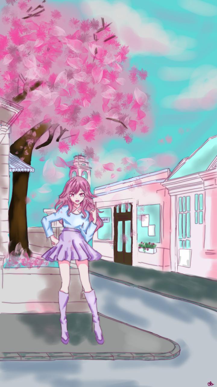 a new oc! Illust of ☆°•chloe•°☆ cute anime animeart animegirl medibangpaint original cutegirl oc