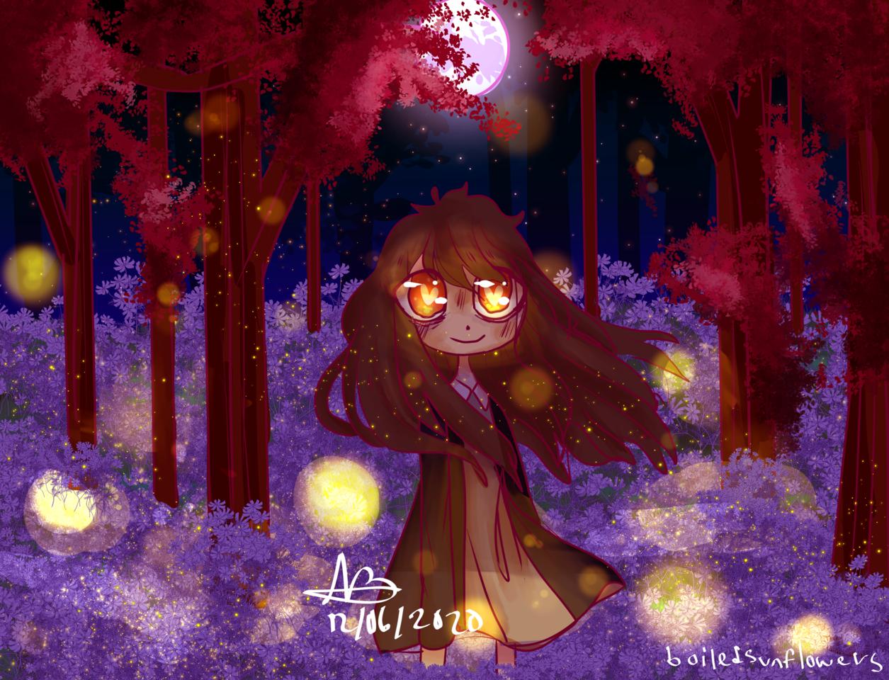 similar  Illust of boiledsunflowers art characterdesign CLIPSTUDIOPAINT light medibangpaint anime illustration Fireflies oc manga
