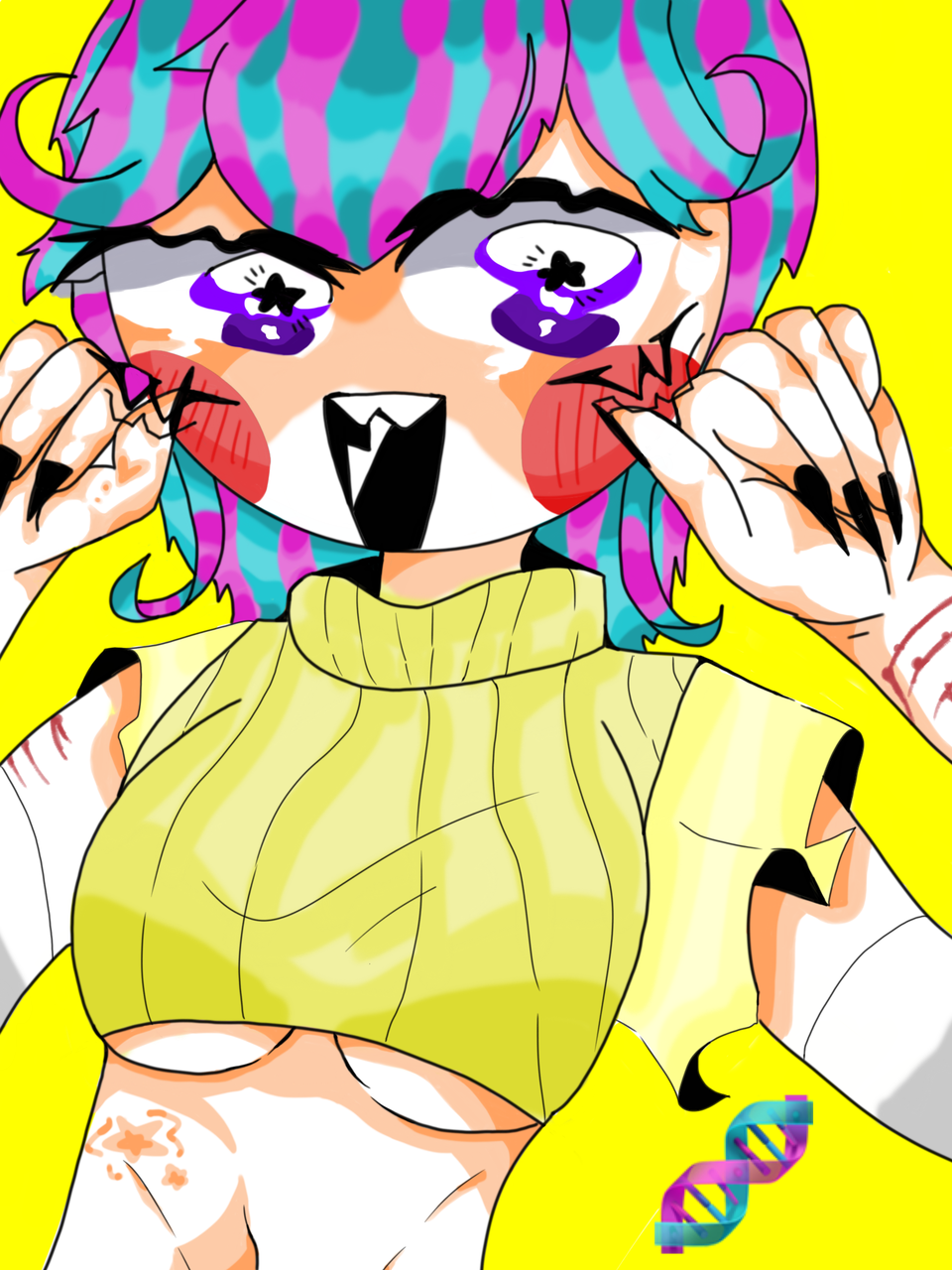 🧬DNA子🧬 Illust of 189   🥩𝕋𝕚𝕦🥩 oc girl 🧬 DNA おっぱい リスカ