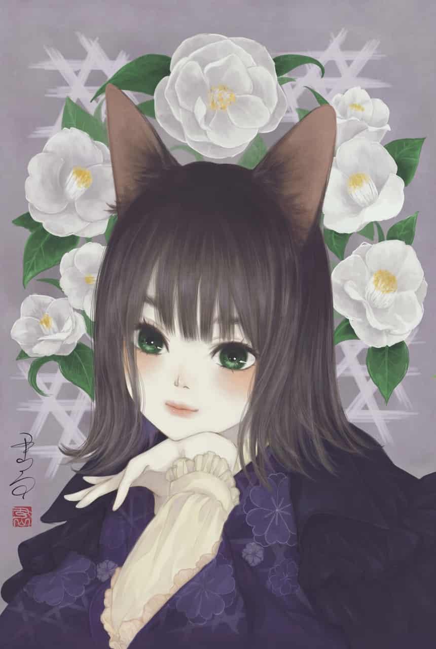 吾輩だって乙女である Illust of 丑山雨 cat_ears kimono ケモ girl