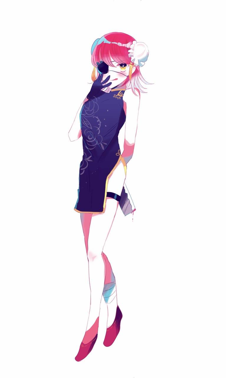 立ち絵 Illust of すいすい oc girl 創作イラスト original