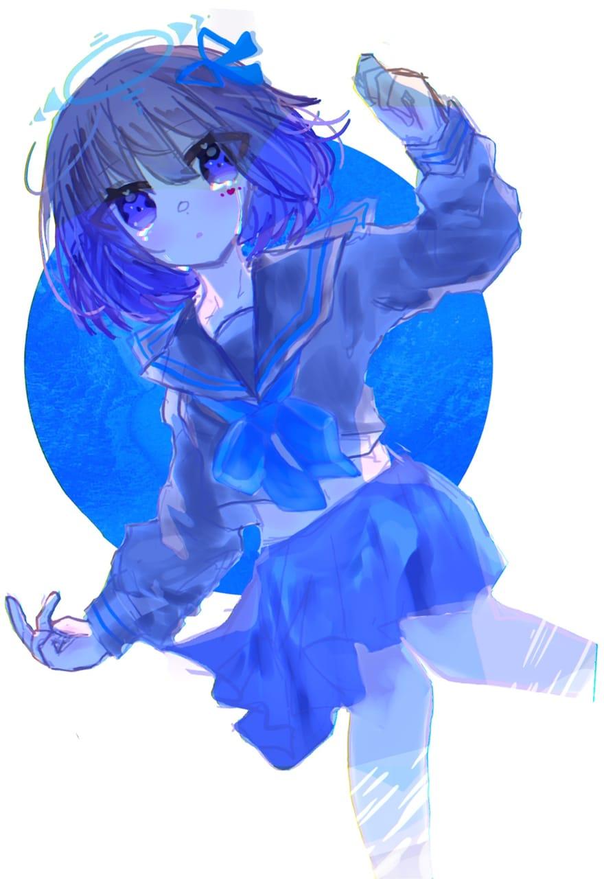 青になりたい。 Illust of シャルム#テスト優先期間中 kawaii angel water blue sailor_uniform