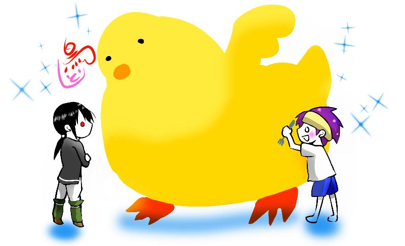 ワンドロ【お題・鳥】 Illust of どべび oc デフォルメ レッツワンドロ original