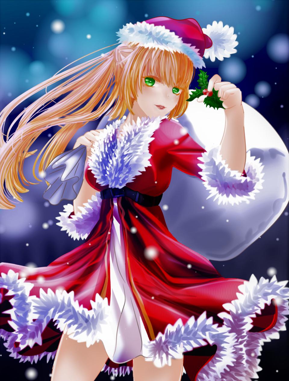 Santa Illust of Akira Luca dec.2019Contest Christmas santa