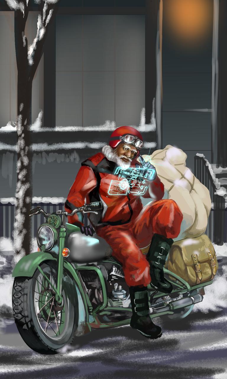 実際のお仕事風景 Illust of 吾桑 December2020_Contest:Santa medibangpaint