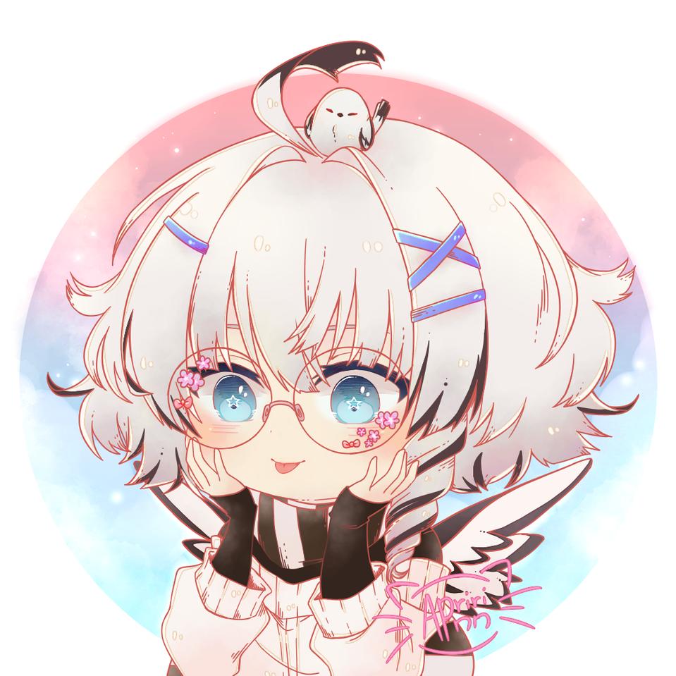 Bleep Blanc Illust of Apririnn (Onigiri) ARTstreet_Ranking chibi girl Smol wings cute glasses tongue oc medibangpaint