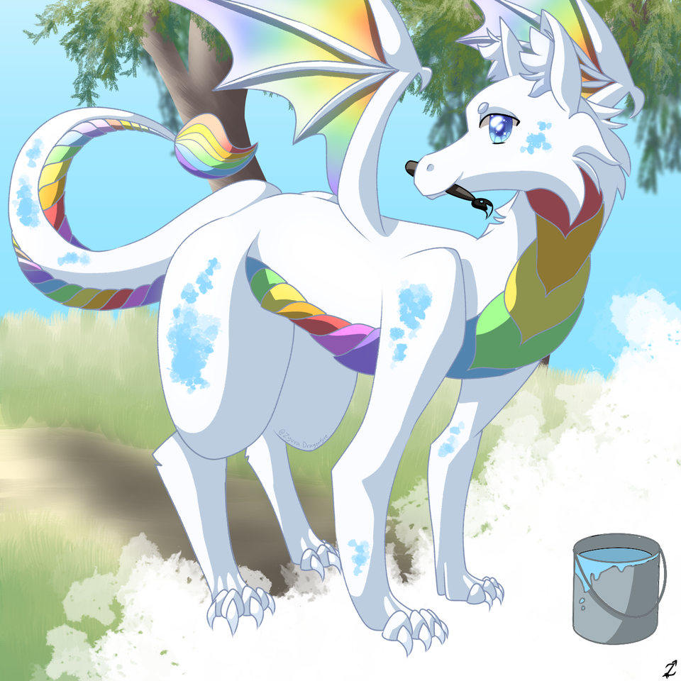 The Art Dragon! Illust of Zyvra Dragonfyre September2020_Contest:Furry medibangpaint paintbrush paint furry
