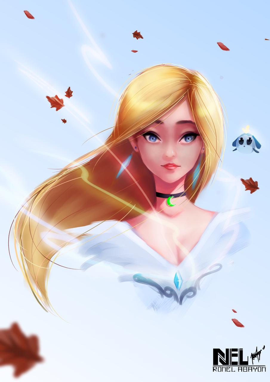 Blonde Illust of Kieran fantasy medibangpaint girl